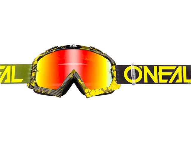 O'Neal B-10 Goggles, pixel neon yellow/green-radium